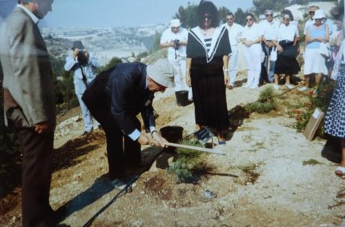 Plantation de l'arbre à Jérusalem.JPG