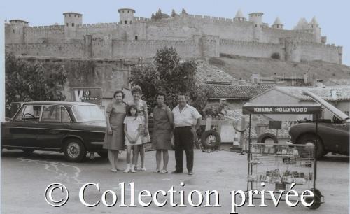Aout 1969 - Jeanne Danjard, Leonce Brard, Elina et Roger Gironis et la petite Nadine Gironis.jpg