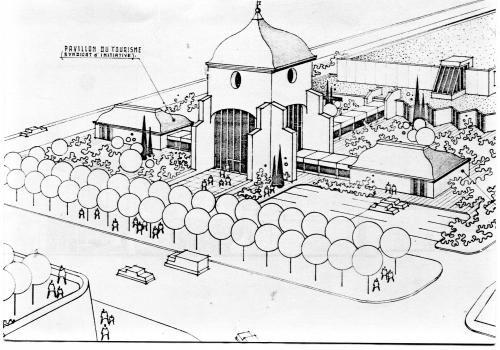 Projet Palais des Congrés Dôme en 1981.jpg